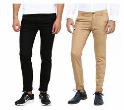 Cotton Inspire Pack Of 2 Slim Casual Chinos (Black & Khaki)