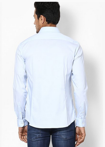 2b0414537c6 Celio Solid Ice Blue Casual Shirt