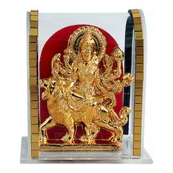 Gold Plated Lord Maa Durga Cabinet Idol Corporate Gift Item