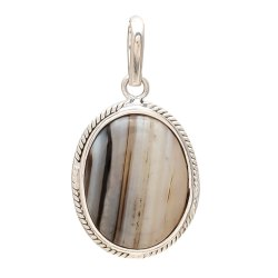Black Real Authentic Sulemani Hakik (Agate) Stone Pendant