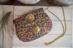 Mosaic Metal Clutches Bag
