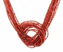 RED COLOR GLASS SEED BEADS NECKLACE