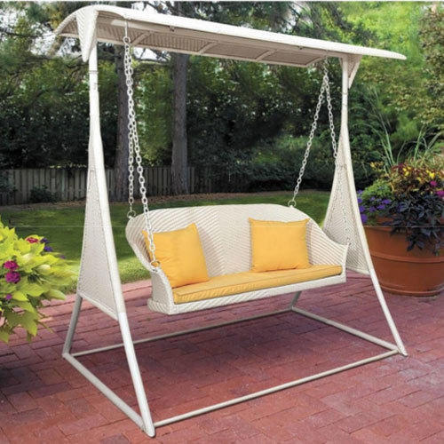 Wicker Two Seater Garden Swing Rs 28000 Piece Angad Furniture