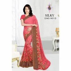 Ladies Casual Wear Printed Cotton Saree