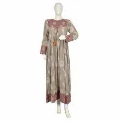 10 Cotton Hand Printed Women's Long Dress India DB22