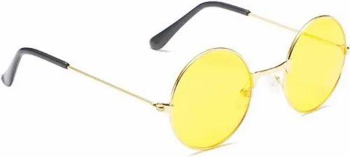 Male Metal Round Yellow Sunglasses Rs 40 Piece Mg Enterprises Id 21350449255