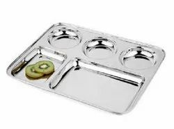Rectangle Dinner Plate Sections Divided Mess Trays for Kids 2,3,4,5 & 6 Compartment Plate