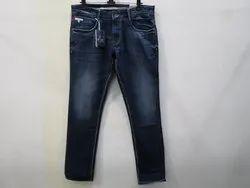 Mens Dark Blue Slim Fit Jeans(PW-018)