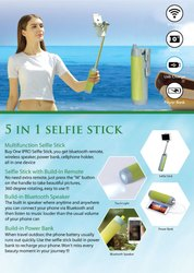 5 In 1 Selfie Stick Speaker - Giftana