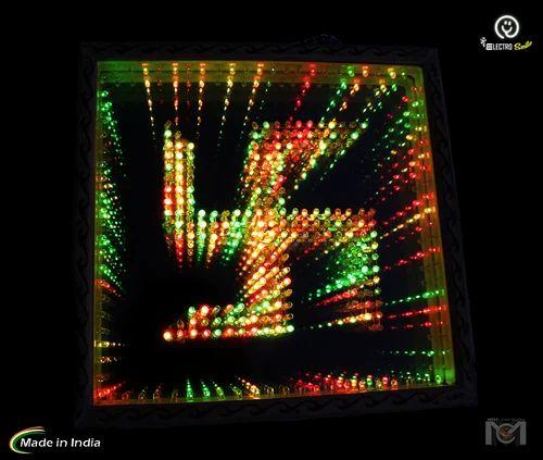 Colored Led Lights >> Swastik Multi Color Color Led Lights Big Wooden Frame