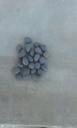 Black Unpolished Pebbles