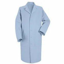 Cotton Blue Lab Worker Coat, Machine wash, Size: S - L