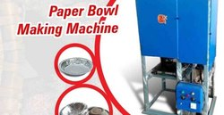 Fully Automatic Disposable Bowl Making Machine