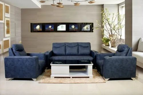 Wooden Modern Very Beautiful Royal Blue Sofa Set For Home Living Room Rs 6000 Piece Id 22515570397