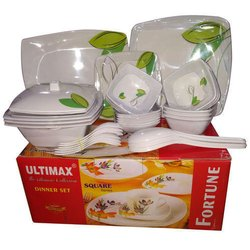 Fortune Square Melamine Dinner Set