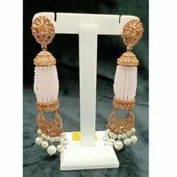 Brass Wedding Designer Hanging Earrings