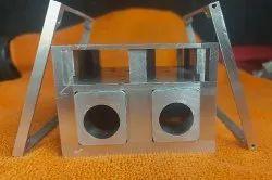 Silver Aluminium Enclosure, Size/Dimension: Upto 1000mm X 600mm