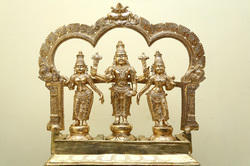Panchaloha Lord Vishnu With Bhudevi And Srivdevi 2 Ft