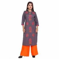 Casual  Wear Cotton Flex Kurti