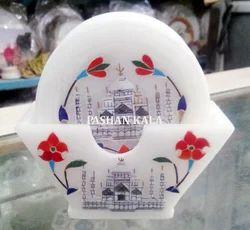 White Marble Taj Mahal Design Coaster