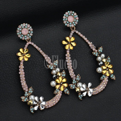 Eluceo Fashion Flowers Street Beat Wild Bohemian Earrings