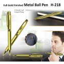 Metal Ball Pen (Gold Finished) H-218