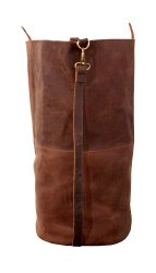 Duffel Bag Brown Leather Laundry Bag