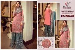 Charizma Maryam And Maria Georgette Embroidery Pakistani Salwar Suit