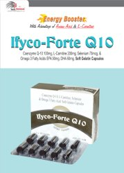 Co Enenzyme Q-10 100mg, L-Carnitine 200mg, Omega 3 Fatty Acid (EPA 90   DHA 60) 150mg
