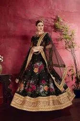 Beautiful Designer Banglori Silk Lehenga
