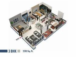 3 BHK Flat Construction