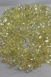 Natural Loose Brilliant But Pear Shape Light Yellow Color Diamond