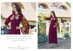 Arihant NX Floral Vol-3 Series 3021-3028 Stylish Party Wear Rayon Kurti