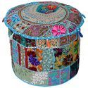 18 Patchwork  Ottoman Pouf Cover