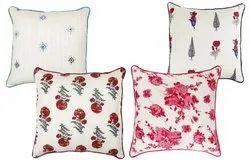Screen Printed Cotton Cushion Cover