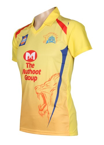 973921c7 Chennai Super Kings 2019 IPL Jersey With Logo, Size: S To XL, Rs 299 ...