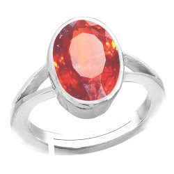 Gomed Stone Ring Silver Gemstone