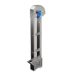 Stainless Steel 25Mtr Bucket Elevator, Capacity: 4-5 Ton