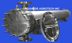 Stainless Steel Shell And Tube Heat Exchanger, for Food Process Industry, Oil