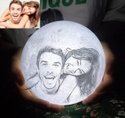 3D Moon Lamp with Photo & Text