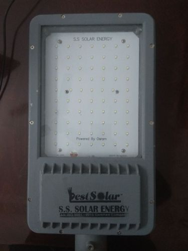 Warm White SS Solar 80W AC LED Street Light, IP Rating: IP66, 80 W Ac