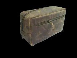 Buffalo Leather Toiletry Bag