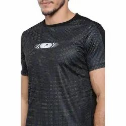 Black  Sublimation Printed Sports T-Shirt