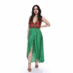 JaipurOnlineShape Assorted Latest Design Party Wear Long Dress, Handwash, Age Group: Adults