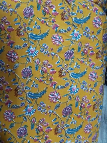 Rayon Printed Kurtis Fabric