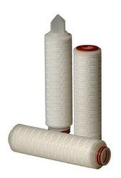 Hydrophilic PTFE Pleated Filter Cartridge Replacement 0.2 Micron For Liquid