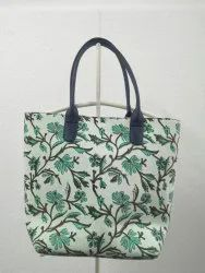 Hand Block Print Womens Messenger Shoulder Tote Bag