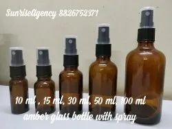 Amber Glass Bottles With Spray Pump