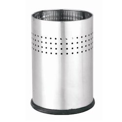 Stainless Steel Half Perforate Dust Bin