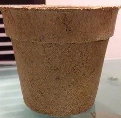 Brown Global Green Coir Biodegradable Pot for Garden